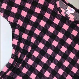 LulaRoe Marly Dress Size Small Pink & black Plaid